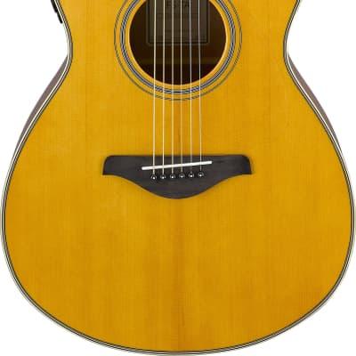 Yamaha FG-TA TransAcoustic Acoustic/Electric Guitar Vintage Tint for sale