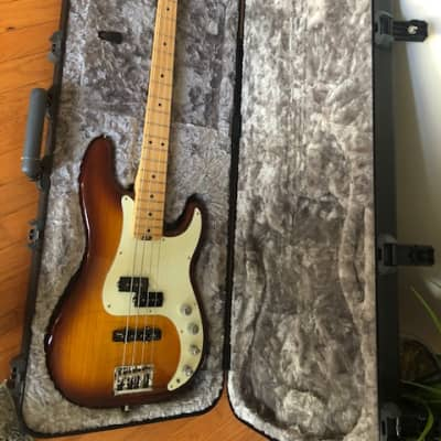 Fender Fender American Elite Precision Bass 2016 - Maple Fingerboard, Tobacco Sunburst 2016 Tobacco for sale