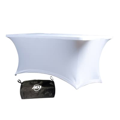 American DJ Event Table White Scrim Facade 6FT Cover w/Transport Pouch