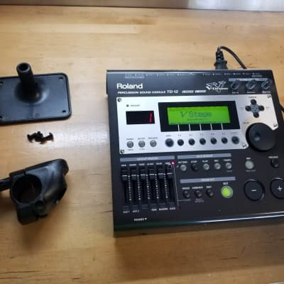 Roland TD-12 V-Drum Module Upgraded w/Mount, Clamp, & Power Cable - BW21885 - Free Shipping!