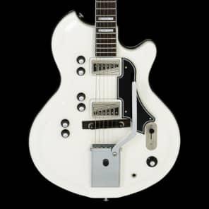 Supro 1593VEW Martinique Deluxe Dual Pickup Americana Series Electric Guitar with Tremolo Ermine White