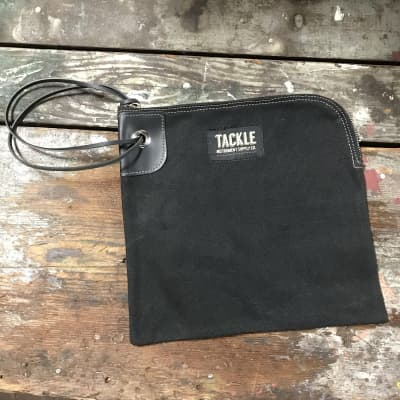 Tackle Zippered Accessory Bag- Black