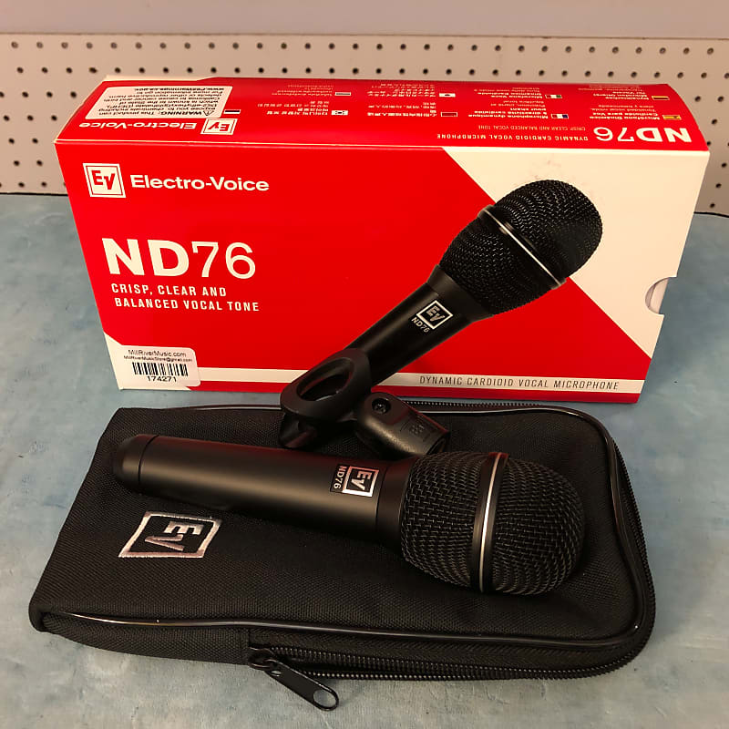 Electro-Voice EV ND76 Dynamic Cardioid Vocal Microphone w/ Box & Clip