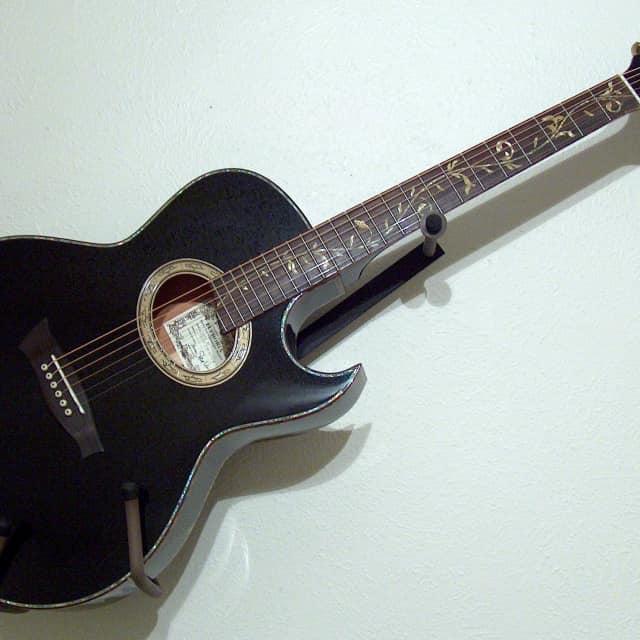 2013 Ibanez Steve Vai Signature EP-10 Euphoria thinline acoustic electric Aura Gloss Black Pearl image