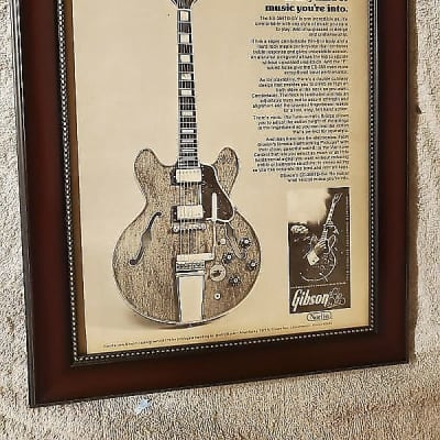 1972 Gibson Promotional Ad Framed B B King Lucille Original