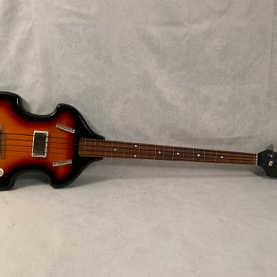 Vintage 1967 Airline Model 7289 Violin Bass Guitar Valco Supro Rare & Original
