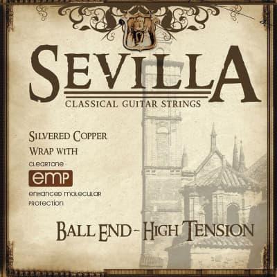 Cleartone Sevilla Classical Guitar Strings - Ball End - High Ten. 28-42 - 1Pack - 1 Pack
