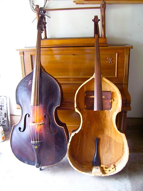 2 vintage kay upright basses with gut strings o 1 c 1 reverb. Black Bedroom Furniture Sets. Home Design Ideas
