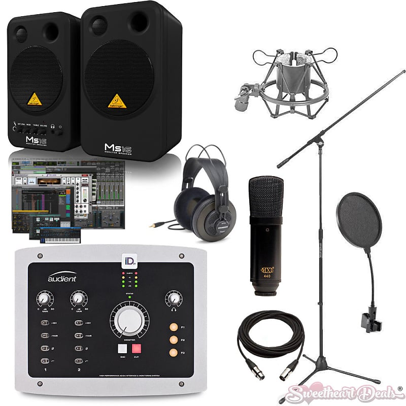 audient id22 recording bundle with behringer ms16 monitors reverb. Black Bedroom Furniture Sets. Home Design Ideas