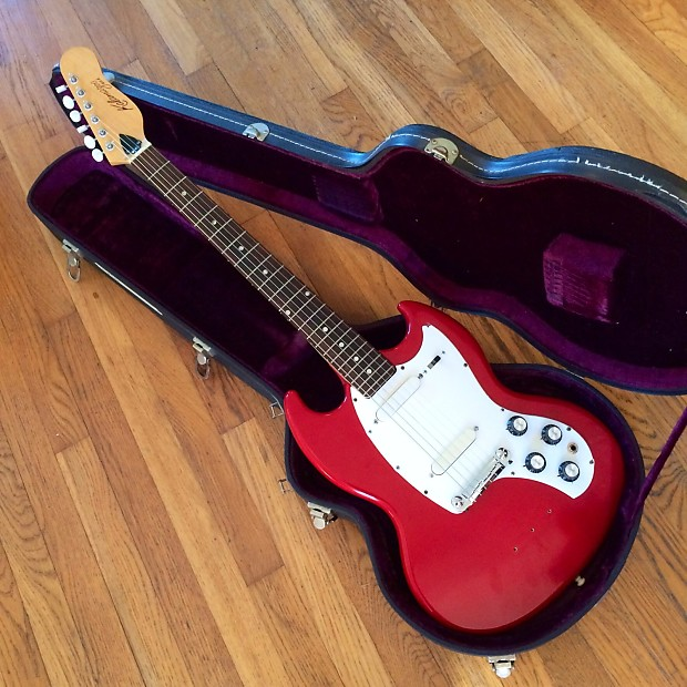 gibson kalamazoo kg 2 electric guitar 1965 red original reverb. Black Bedroom Furniture Sets. Home Design Ideas