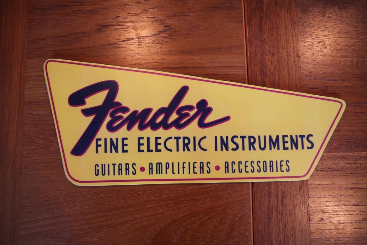 Vintage Reproduction Fender Dealer Guitar Stand Sign | Reverb