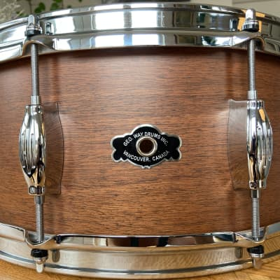 George Way Tradition Mahogany snare drum 2017 Matte Natural