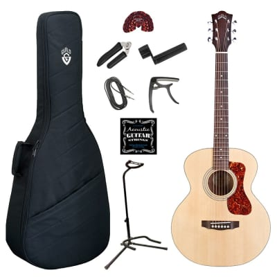 Guild Jumbo Junior Acoustic Electric Guitar Deluxe Bundle - Natural for sale