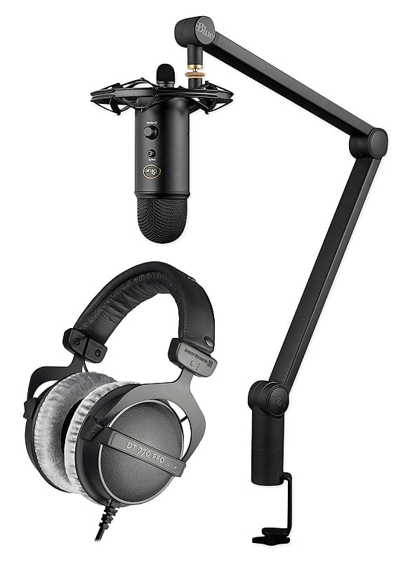 Blue Yeticaster Studio Podcasting Microphone Mic