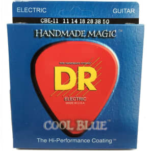 DR CBE-11 Cool Blue K3 Coated Electric Guitar Strings - Heavy (11-50)