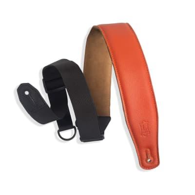 "Levy's MRHGS-ORG 2.5"" Garment Leather Guitar Strap - Orange"