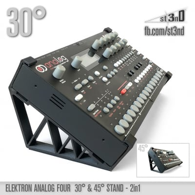 ELEKTRON Analog Four MK1 & Rytm MK1 - 2in1 30°/45° STAND - 3D Printed
