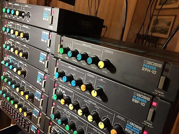 Boss Complete Micro Rack Series Half Effects Units With Two Original Power Supplies