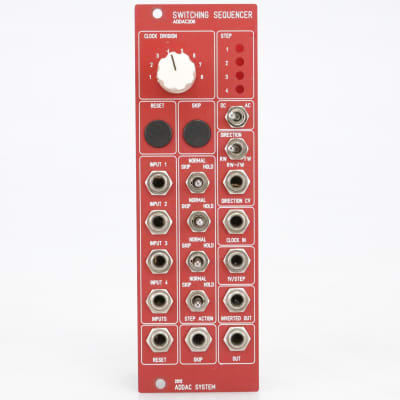 ADDAC System ADDAC206 Switching Sequencer Eurorack Module #41014
