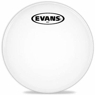 "Evans TT12MXW MX White Marching Tenor Drum Head - 12"""