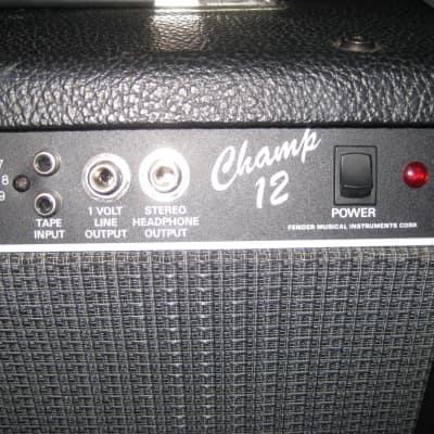 Fender Champ 12 -  80's black for sale