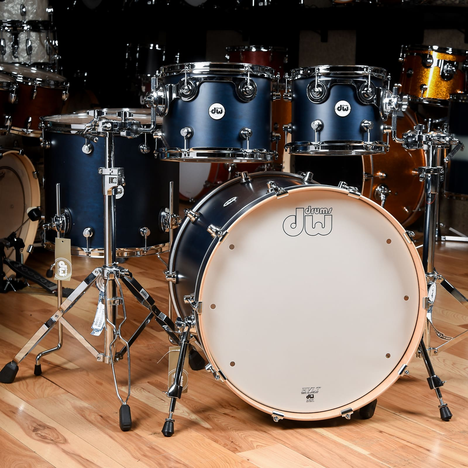 DW Design Series 10/12/16/22 4pc  Drum Kit Satin Midnight Blue