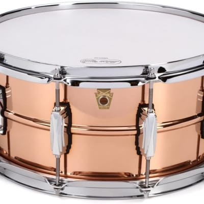 """Ludwig 6.5"""" x 14"""" Copperphonic Smooth Shell Snare Drum with Imperial Lugs - LC662"""
