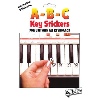 ABC Key Stickers for Use with All Keyboards