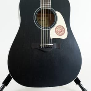 Ibanez AW70ECE-BK Artwood Series Solid Top Dreadnought Cutaway Acoustic/Electric Guitar Black