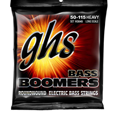 GHS H3045 Bass Boomers Heavy Long Scale Bass Guitar Strings 50-115