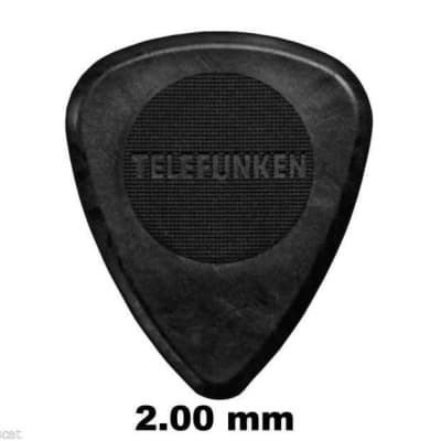 New Telefunken Elektroakustik Graphite Guitar Picks 2mm Thick Circle (6-pack) - Black