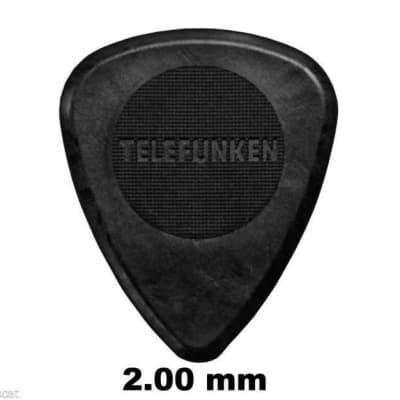 New Telefunken Elektroakustik Graphite Guitar Picks 2mm Thick Circle (6-pack) - Black