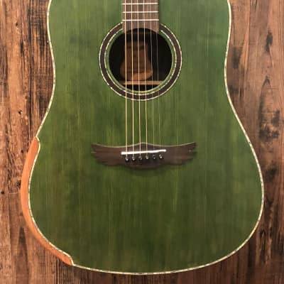 Dream Maker KU-280E Acoustic Electric Guitar Transparent Green for sale