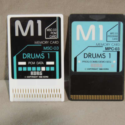 Korg M1 Drums 1 sound cards MSC-03 and MPC-03 for M-1 & M1R