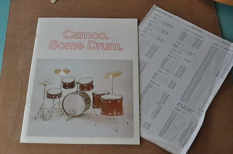 Camco Drum Vintage Catalog Booklet Brochure 1975 Also Reverb