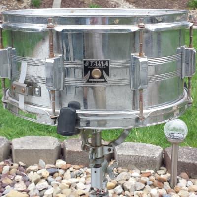 "Tama 7006 Swingstar 6.5x14"" 8-Lug Chrome Steel Snare Drum 1984 - 1988"