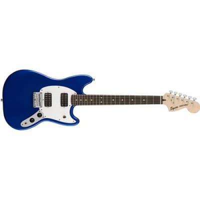 Squier Bullet Mustang HH Electic Guitar, Indian Laurel Fingerboard, Imperial Blue