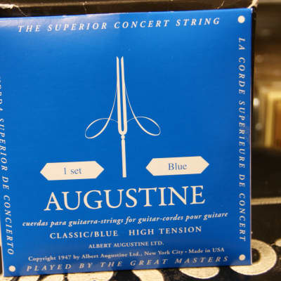Augustine classical guitar strings high tension blue pack (2 PACKS) for sale