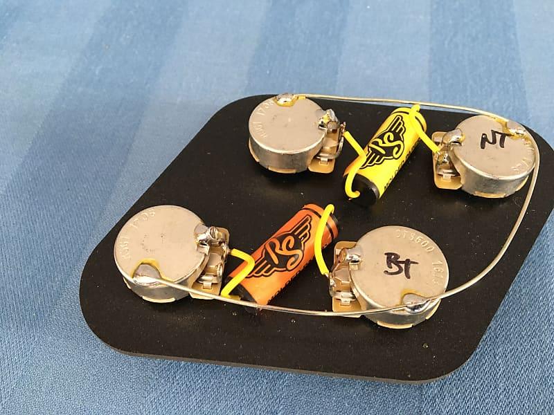 rs guitarworks les paul wiring kit 50s superpots paper in oil reverb. Black Bedroom Furniture Sets. Home Design Ideas
