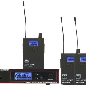 Galaxy Audio AS-1100-4D Any Spot Wireless Personal Monitor System Pack - D Band (584-607 MHz)
