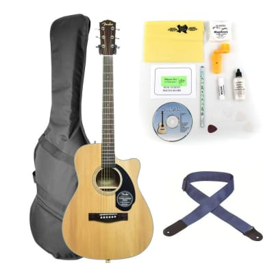 Fender CC-60SCE Acoustic-Electric Guitar Bundle - Walnut fingerboard for sale