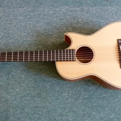 Terry Pack new model  PLMS Parlour acoustic guitar, solid Mahogany back and sides for sale