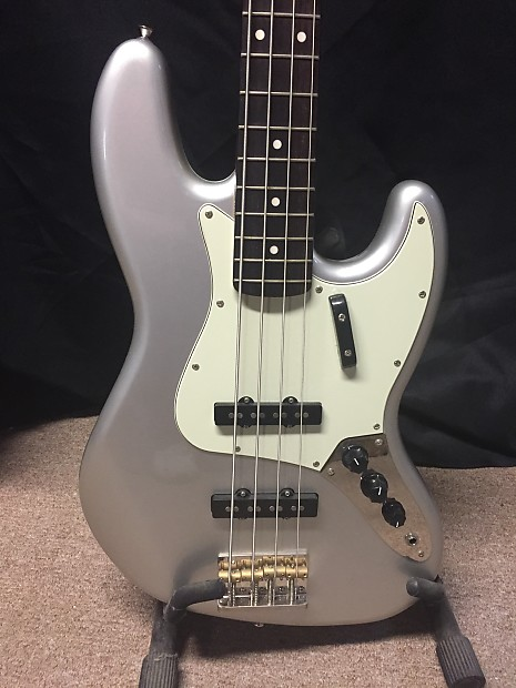 83189d308f9 Description; Shop Policies. Squier Classic Vibe Jazz Bass '60s Bass Guitar Inca  Silver with Matching Headstock ...