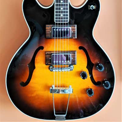 1966 Hagstrom Viking I Sunburst Made in Sweden Modern Upgrades w/ Brand New Hard Case for sale