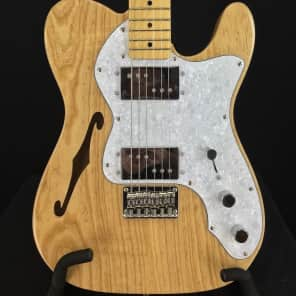 Squier Vintage Modified '72 Tele Thinline Semi-Hollow Electric Guitar Natural Finish