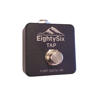 EightySix 2020A-NC Black Tap Tempo Switch Pedal (Normally Closed for Boss Delay etc.)