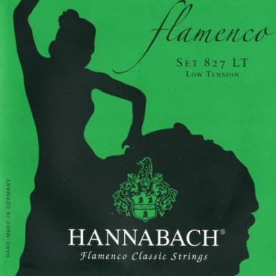 HANNABACH 827LT Green FLAMENCO, light tension - (27-31-39-28-33-42) for sale