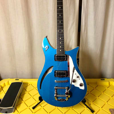 Duesenberg Double Cat Semi-Hollow Guitar Catalina Blue w/ OHSC for sale