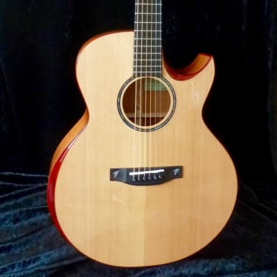NEW Terry Pack  SJMC acoustic guitar, solid mahogany B/S, solid Cedar top, armrest feature, cutaway for sale