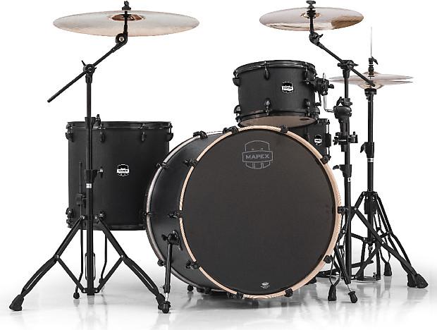 Mapex Mars 4 Piece Rock 24 Drum Set Night Wood Zw Reverb
